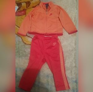 Nike Baby Girl Jogging Set Pink & Peach Sz 12M